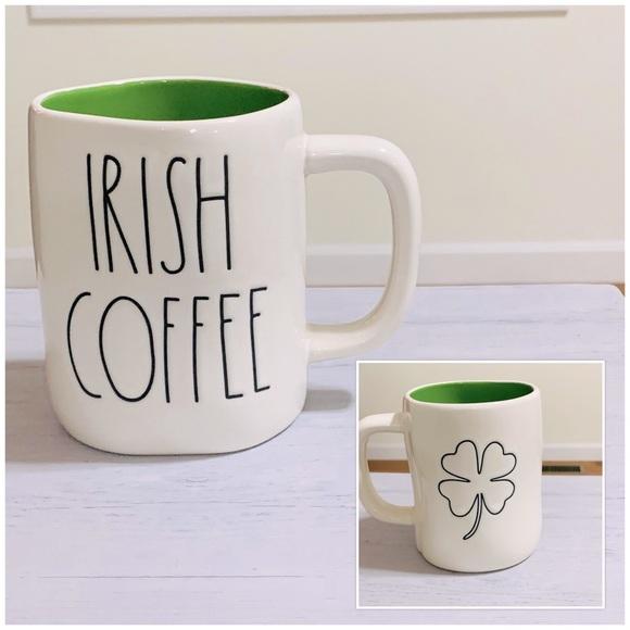 Rae Dunn Double Sided Mug IRISH COFFEE